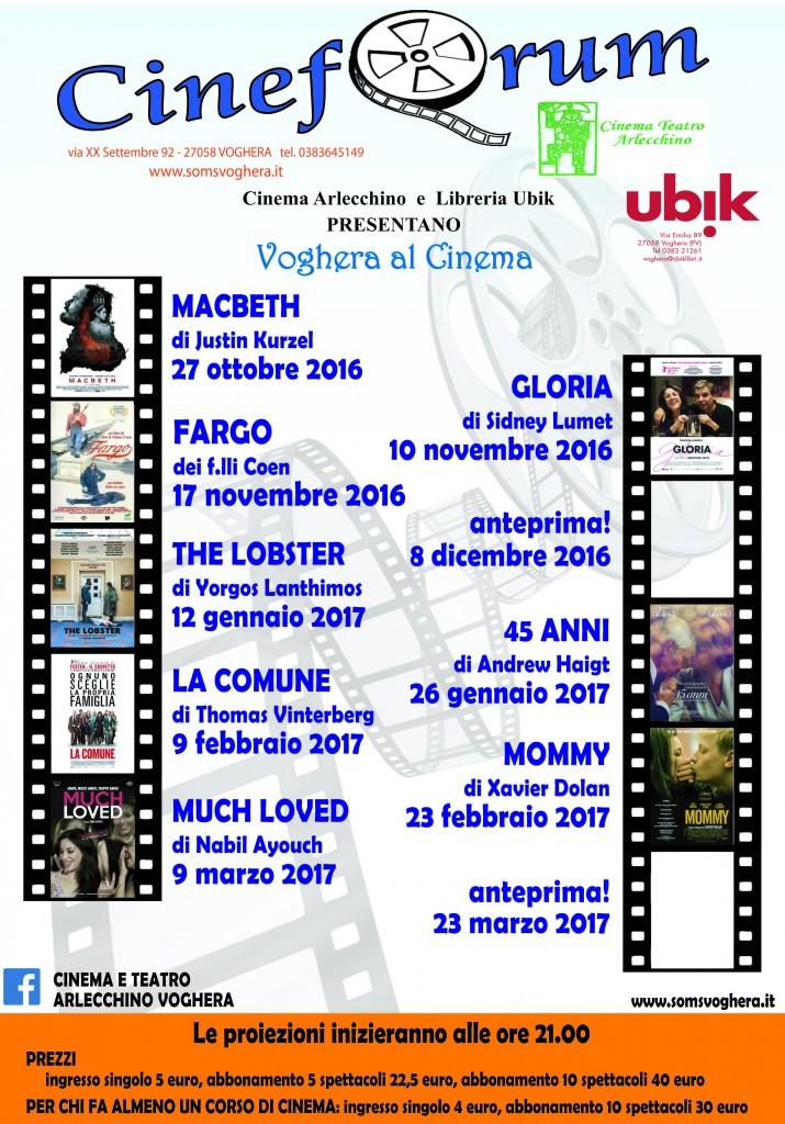 """Voghera al cinema"" Cineforum 2016/2017"