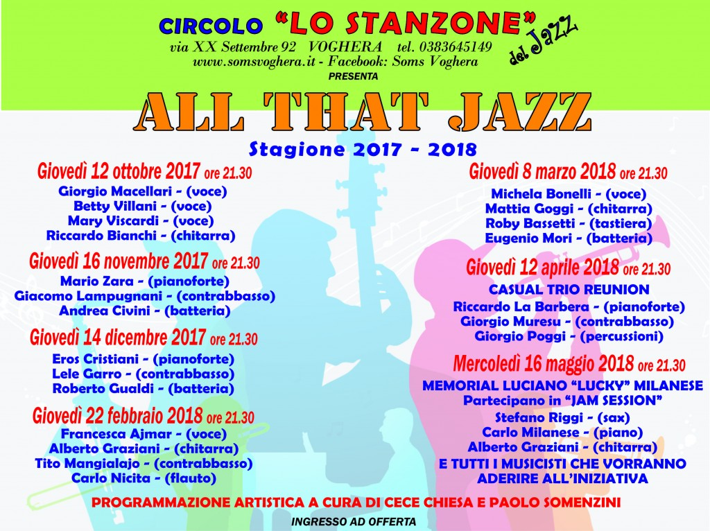 """ALL THAT JAZZ"" al circolo Lo Stanzone"